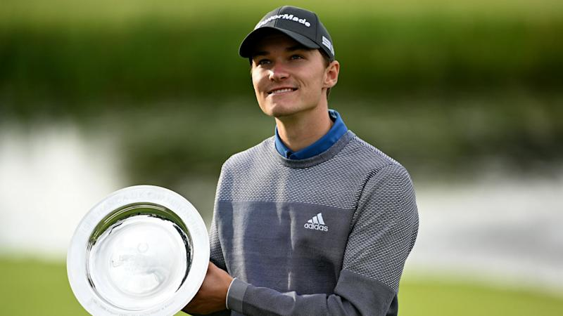 Teenage rookie Hojgaard wins UK Championship play-off to claim second European Tour title