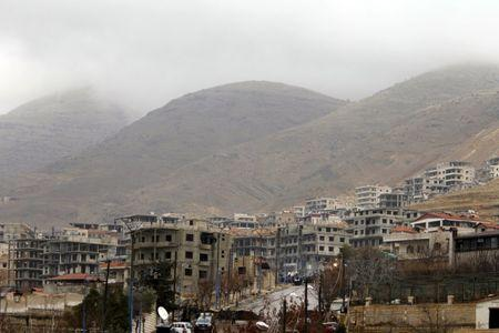 A general view shows the town of Madaya, Syria