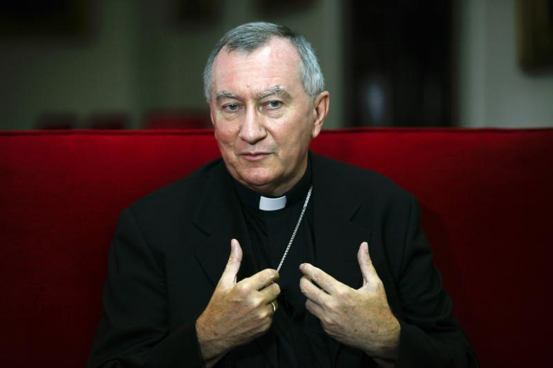 Vatican's new appointed Secretary of State Monsignor Pietro Parolin sepaks during an interview in Caracas