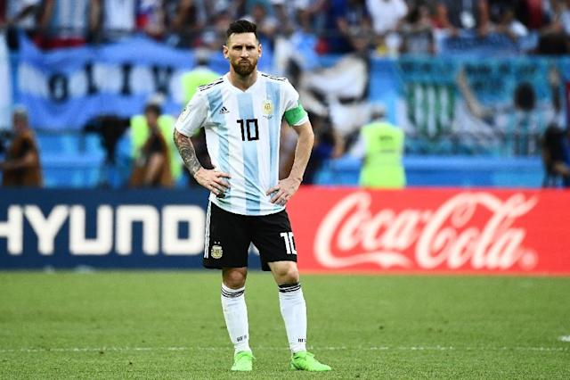 Lionel Messi's last Argentina appearance was against France at the World Cup in Russia on June 30, 2018 (AFP Photo/Jewel SAMAD)