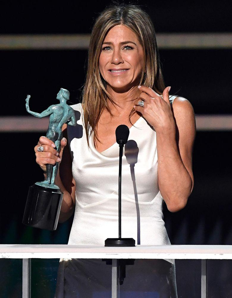 Jennifer Aniston at the 2020 SAG Awards | Kevork Djansezian/Getty