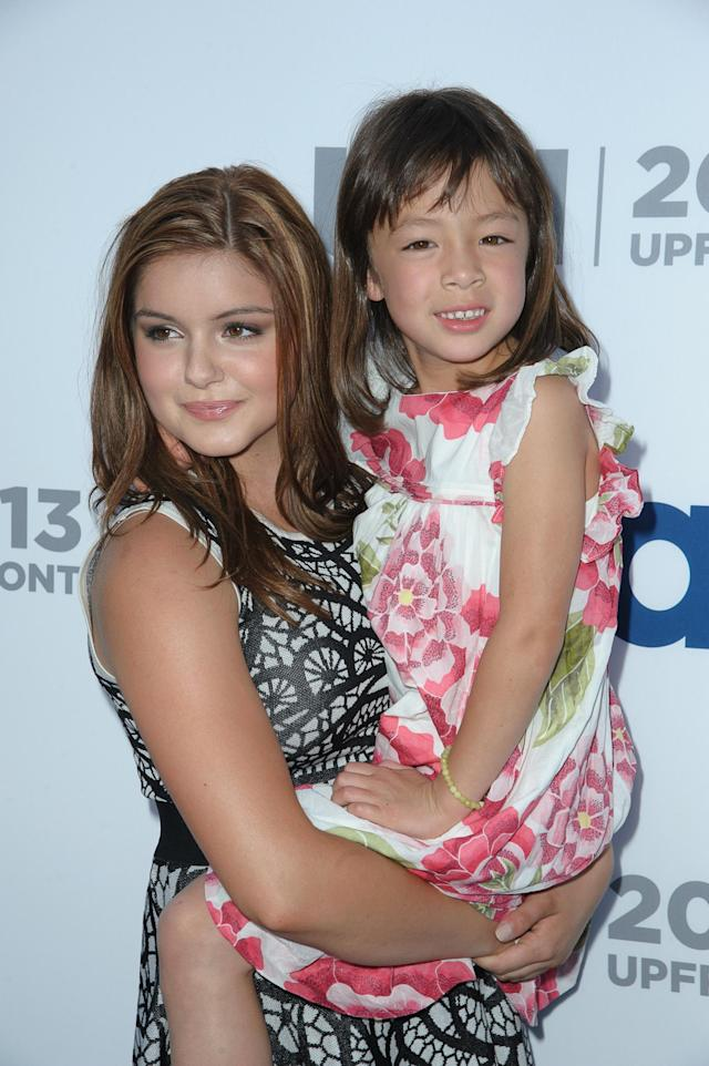 NEW YORK, NY - MAY 16: Aubrey Anderson-Emmons and Ariel Winter attends USA Network 2013 Upfront Event at Pier 36 on May 16, 2013 in New York City. (Photo by Dave Kotinsky/Getty Images)