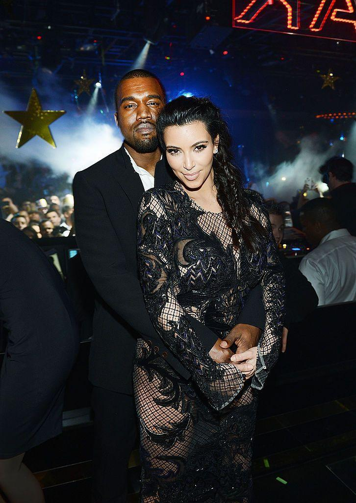 <p>West accompanied his new girlfriend when she hosted a New Year's Eve event in a Vegas club.</p>