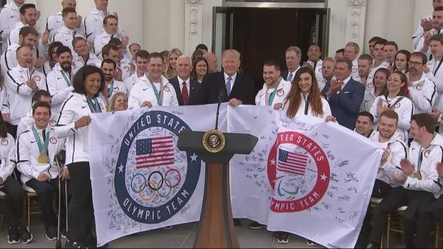 President Trump is under fire after saying the Paralympics were 'a little tough to watch'. .