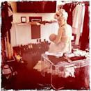 Pink posted a photo on Instagram of her breastfeeding daughter Willow while on a break at a photoshoot for her album in June.