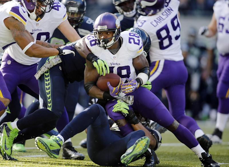 Peterson says he's playing against Green Bay