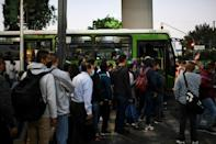The Mexico City authorities organized more buses for commuters after the accident shut one of the 12 metro lines