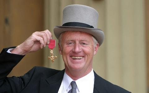 Tarrant received an OBE in 2004 - Credit:  IAN JONES