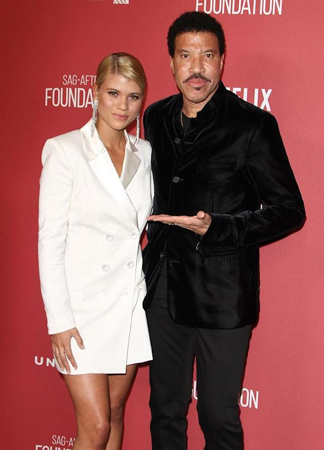<p>The father-daughter pair stepped out for their first red carpet appearance together in three years at the SAG-AFTRA Foundation Patron of the Artists Awards in Beverly Hills on Thursday. The duo presumbly partied <em>all night long</em>, after the singer received the Recording Artists Inspiration Award for his philanthropic work. (Photo: Juan Rico/Backgrid) </p>