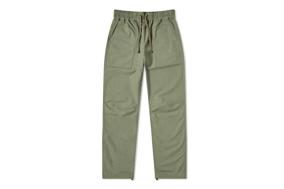 "$375, END Clothing. <a href=""https://www.endclothing.com/us/john-elliott-naval-himalayan-pant-f055g8951a-12952204.html"" rel=""nofollow noopener"" target=""_blank"" data-ylk=""slk:Get it now!"" class=""link rapid-noclick-resp"">Get it now!</a>"