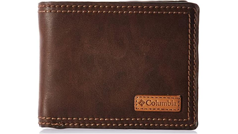 Columbia Men's RFID Passcase Wallet with Inlaid Logo Patch. (Image via Amazon)