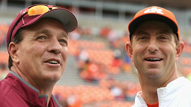 Clemson and Dabo Swinney face Jimbo Fisher's Texas A&M squad in College Station.