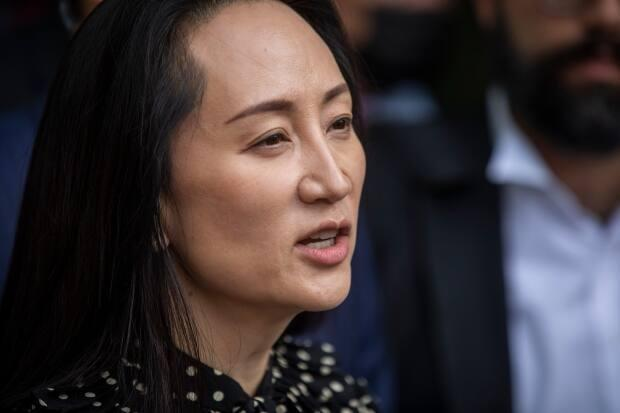 Huawei chief financial officer Meng Wanzhou leaves the B.C. Supreme Court after her extradition charges were dropped in Vancouver. (Ben Nelms/CBC - image credit)