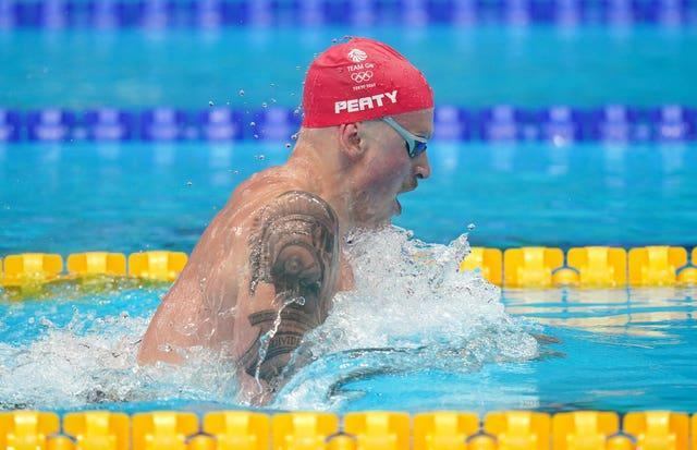 Adam Peaty registered the eighth fastest time in the history of the 100 metres breaststroke (Adam Davy/PA)