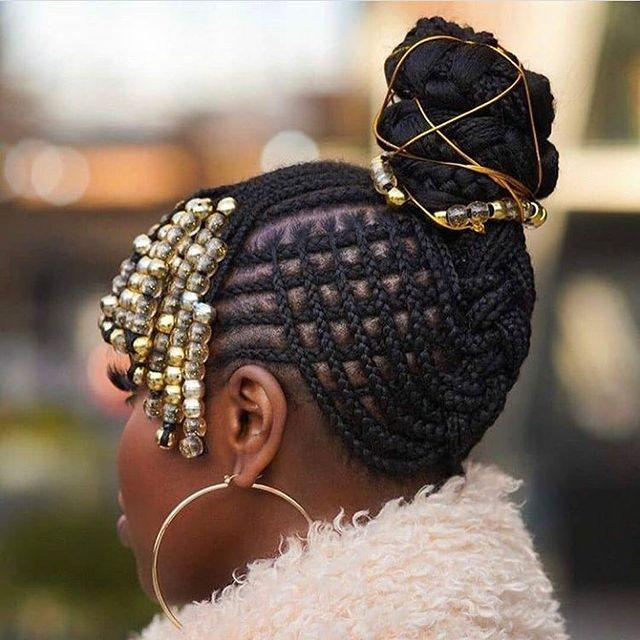 """<p>Playing criss-cross with your cornrows will this cross-hatch updo pattern.</p><p><a href=""""https://www.instagram.com/p/CG0p-KdgAAV/"""" rel=""""nofollow noopener"""" target=""""_blank"""" data-ylk=""""slk:See the original post on Instagram"""" class=""""link rapid-noclick-resp"""">See the original post on Instagram</a></p>"""