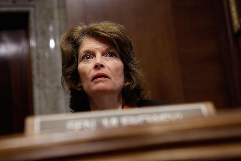 """<a href=""""http://www.senate.gov/artandhistory/history/common/briefing/women_senators.htm""""><strong>Served from:</strong></a> 2002 to present Sen. Lisa Murkowski (R-Alaska) questions witnesses during a hearing on March 29, 2011 in Washington. (Photo by Chip Somodevilla/Getty Images)"""
