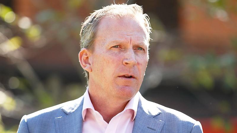 Pictured here, Kevin Roberts looked set to be removed as Cricket Australia chief executive.