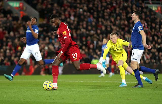 Origi struck early as the hosts came out in ruthless mood. (Photo by Richard Sellers/PA Images via Getty Images)