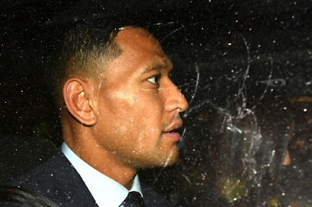 "Israel Folau claims he was ""vindicated"" after the out-of-court settlement (AFP Photo/Saeed KHAN)"