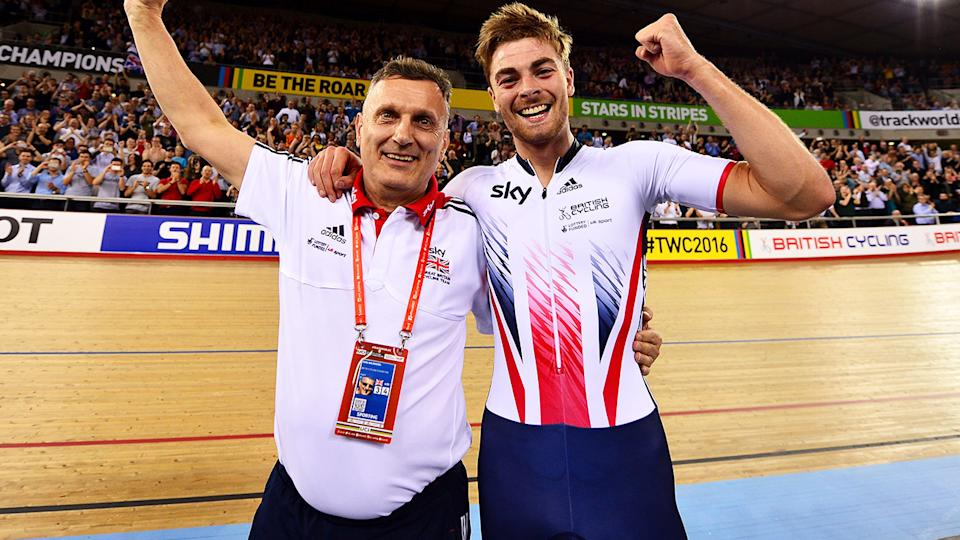 Heiko Salzwedel and Jonathan Dibben, pictured here at the UCI Track Cycling World Championships in 2016.