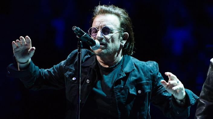 <ul> <li><strong>Net worth: </strong>$700 million</li> </ul> <p>Bono, with his band U2, has been nominated for 46 Grammy Awards and won 22. Bono is a social activist and has performed at Live Aid, Band Aid and Live 8 concerts. He is also a savvy investor, with a large portfolio of real estate and was previously a managing director of Elevation Partners, a private equity firm.</p> <p><small>Image Credits: Richard Isaac / Shutterstock.com</small></p>