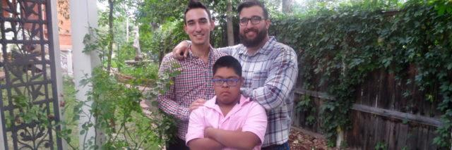 Michelle's sons, one of whom has Down Syndrome.