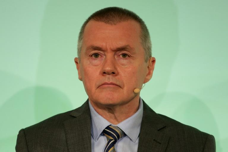 International Airlines Group (IAG) CEO Willie Walsh announced a pledge for airlines to reach net-zero emissions by 2050 (AFP/Daniel LEAL-OLIVAS)