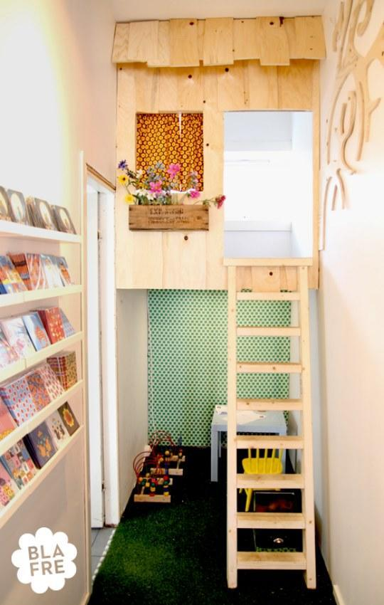 """<div class=""""caption-credit""""> Photo by: Apartment Therapy</div><div class=""""caption-title"""">The Indoor Treehouse</div>If you won't allow for a real outdoor tree-house, at least build a replica at home! It's a great way to have your kids concentrate on their reading in silence and solitude. Plus, it's extra cozy! <br> <i><a rel=""""nofollow noopener"""" href=""""http://blogs.babble.com/family-style/2012/08/13/25-cute-and-cozy-kids-reading-nooks/#the-indoor-treehouse"""" target=""""_blank"""" data-ylk=""""slk:Get the inspiration here"""" class=""""link rapid-noclick-resp"""">Get the inspiration here</a></i> <br> <br> <br>"""