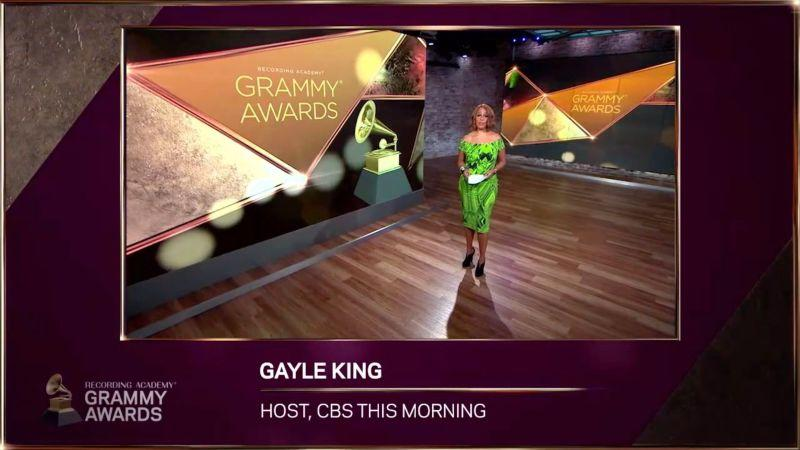 In this image released on November 24th, Gayle King speaks during the 63rd Annual GRAMMY Awards Nominees Announcement.