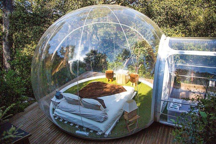 Bubble glamping