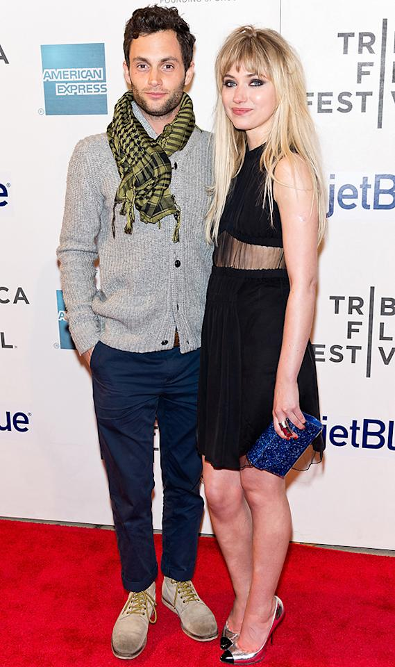 "Penn Badgley and Imogen Poots attend the screening of ""Greetings from Tim Buckley"" during the 2013 Tribeca Film Festival at BMCC Tribeca PAC on April 23, 2013 in New York City."