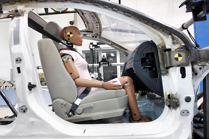 Takata's airbag defect -- thought to be associated with a chemical propellant that helps inflate the devices -- can cause them to deploy with explosive force, sending metal shrapnel hurtling toward drivers and passengers (AFP Photo/Bill Pugliano)