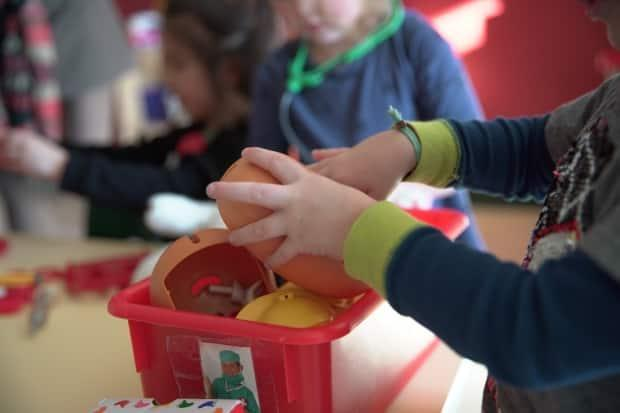 Parents across Quebec will need to make child-care arrangements, as 11,000 public daycare workers are set to go on a one-day strike next Friday.  (Charles Contant/CBC - image credit)