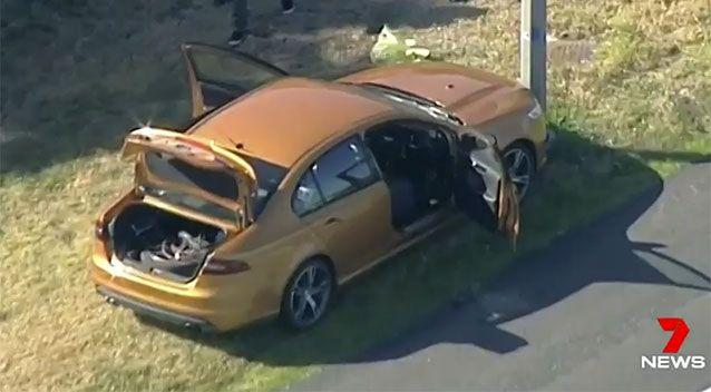 The man fled in this car. Source: 7 News