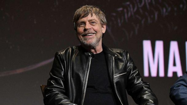 PHOTO: Mark Hamill speaks onstage at the Knightfall For Your Consideration Event in Los Angeles, March 19, 2019, in Los Angeles. (Michael Kovac/Getty Images for HISTORY)