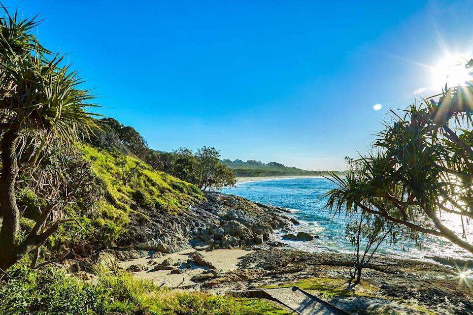 """<p>There are tons of things to do on beautiful <a href=""""https://stradbrokeisland.com/"""" rel=""""nofollow noopener"""" target=""""_blank"""" data-ylk=""""slk:North Stradbroke Island"""" class=""""link rapid-noclick-resp"""">North Stradbroke Island</a>, which is known as """"Straddie"""" to locals. It encompasses some of Australia's signature idyllic beaches, as well as unique activities like whale watching, snorkeling, diving, and surfing. This is a wonderful coastal camping experience with so much to see. </p>"""