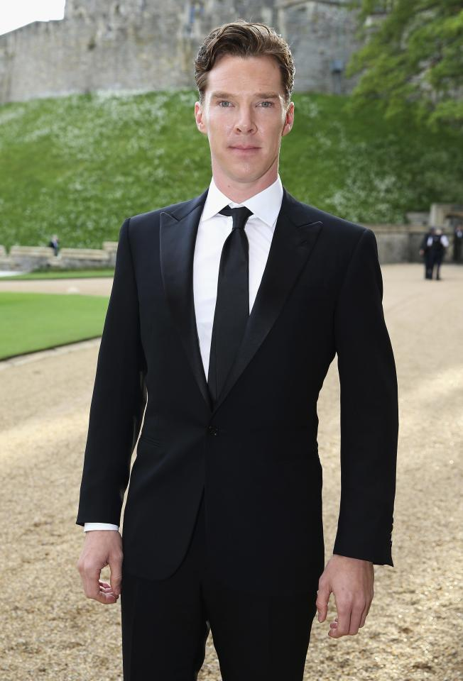 Actor Benedict Cumberbatch arrives for a dinner to celebrate the work of The Royal Marsden hosted by Britain Prince William at Windsor Castle, in Windsor, May 13, 2014. REUTERS/Chris Jackson/Pool (BRITAIN - Tags: ENTERTAINMENT ROYALS)