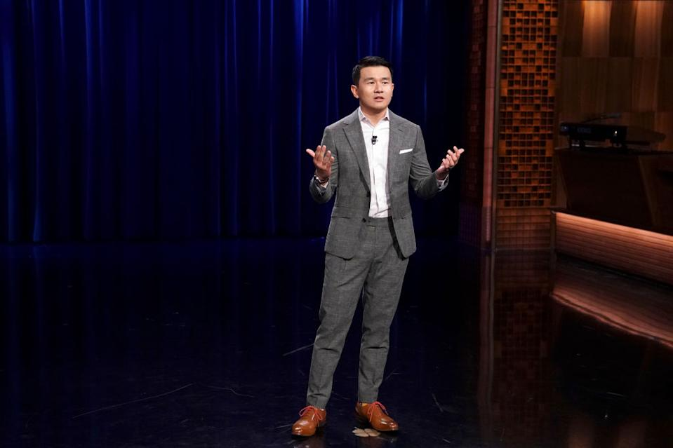 THE TONIGHT SHOW STARRING JIMMY FALLON -- Episode 1047 -- Pictured: Comedian Ronny Chieng performs on April 12, 2019 -- (Photo by: Andrew Lipovsky/NBC/NBCU Photo Bank)