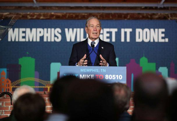 PHOTO: Democratic presidential candidate, former New York City mayor Mike Bloomberg speaks during a rally held at the Minglewood Hall on Feb. 28, 2020, in Memphis, Tenn. (Joe Raedle/Getty Images)