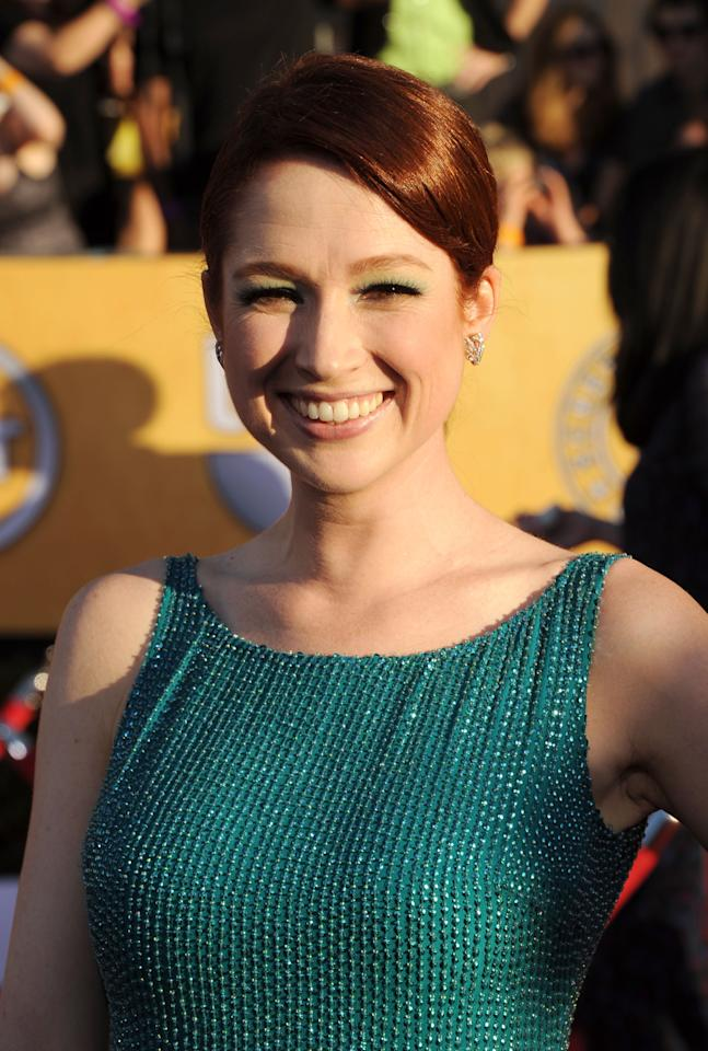 LOS ANGELES, CA - JANUARY 29:  Actress Ellie Kemper arrives at the 18th Annual Screen Actors Guild Awards at The Shrine Auditorium on January 29, 2012 in Los Angeles, California.  (Photo by Jason Merritt/Getty Images)