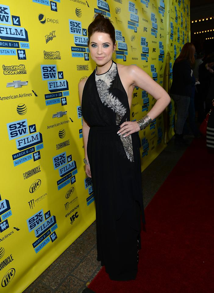"AUSTIN, TX - MARCH 10:  Actress Ashley Benson arrives at the premiere of ""Spring Breakers"" during the 2013 SXSW Music, Film + Interactive Festival at Paramount Theatre on March 10, 2013 in Austin, Texas.  (Photo by Michael Buckner/Getty Images for SXSW)"