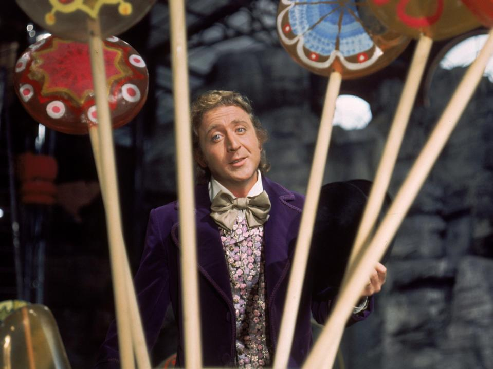 Gene Wilder in Willy Wonka and the Chocolate Factory (Warner Bros)