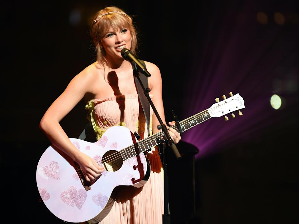 Swift performing in 2019 (Getty Images for TIME)