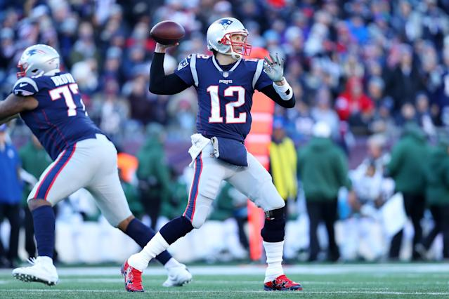 "<a class=""link rapid-noclick-resp"" href=""/nfl/players/5228/"" data-ylk=""slk:Tom Brady"">Tom Brady</a> has stayed mostly clean in 2018, while the Patriots are running more than they have in a while. (Getty)"