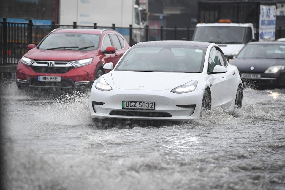 The A41 Flooded in North London (Jeremy Selwyn)