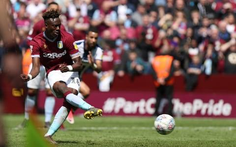 <span>Abraham scored 26 goals on loan at promoted Aston Villa last season</span> <span>Credit: ACTION PLUS </span>