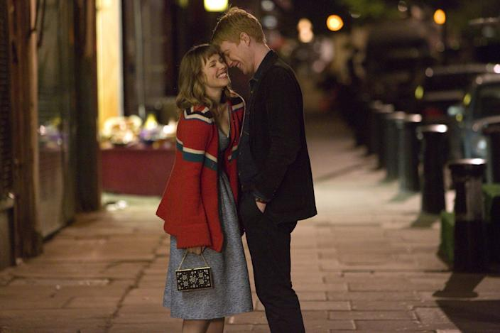 """<p>Rachel McAdams and Domhnall Gleeson star in this 2013 movie about a couple navigating a relationship in which one of them can travel through time. The premise may be wild, but the romance is actually super sweet. Some tears might fall while you're watching, but in a totally cathartic way.</p> <p><a href=""""https://www.netflix.com/title/70261674"""" rel=""""nofollow noopener"""" target=""""_blank"""" data-ylk=""""slk:Available to stream on Netflix"""" class=""""link rapid-noclick-resp""""><em>Available to stream on Netflix</em></a></p>"""