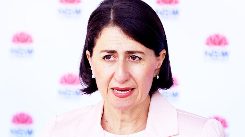 Gladys Berejiklian (pictured) speaking during a press conference.