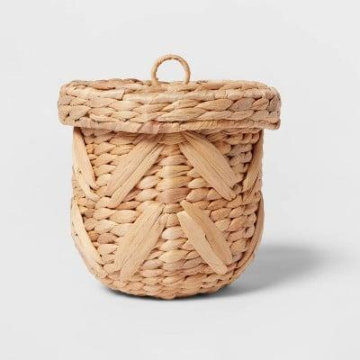 <p>Give your kitchen countertop a warm addition with this <span>Woven Chevron Canister</span> ($15).</p>