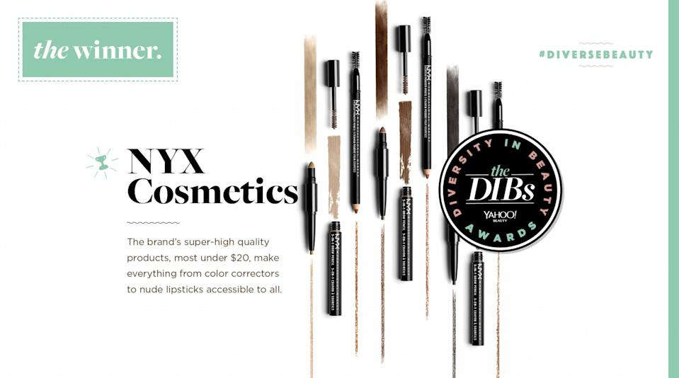 "<p><a href=""http://www.nyxcosmetics.com/"" rel=""nofollow noopener"" target=""_blank"" data-ylk=""slk:The brand's super-high quality products"" class=""link rapid-noclick-resp"">The brand's super-high quality products</a>, most under $20, make everything from color correctors to nude lipsticks accessible to all. </p>"